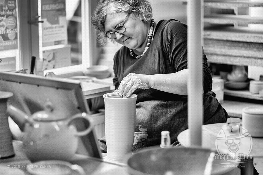 Reportage aus der Keramik Werkstatt von Maria Ziaja in Friedrichstadt // Foto: Ralph Kerpa