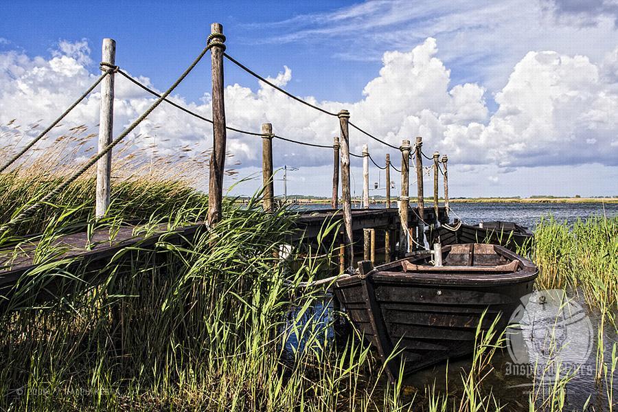 Boote an einem Steg im Hafen von Gager auf Rügen 28052009 // Foto: Ralph Kerpa