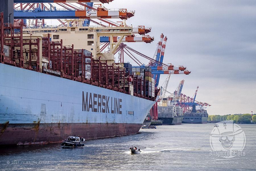 Containerschiffe am Containerterminal EUROGATE im Hamburger Hafen