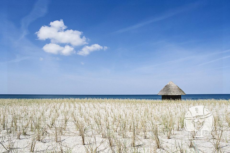 Ein DLRG-Haus an der Ostsee im Fischland Darss // Foto: Ralph Kerpa