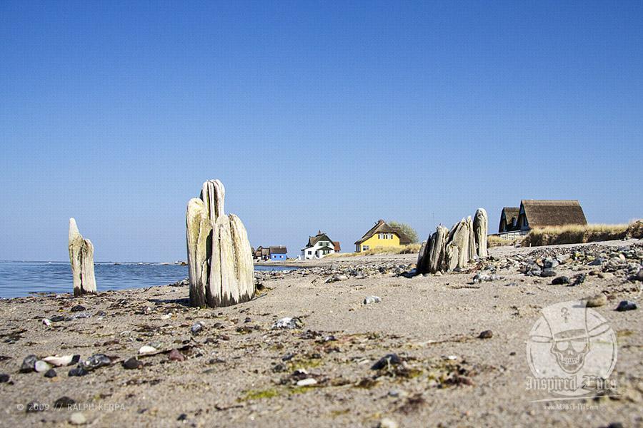 Ferienhaeuser an der Ostsee am Strand von Heiligenhafen // Foto: Ralph Kerpa