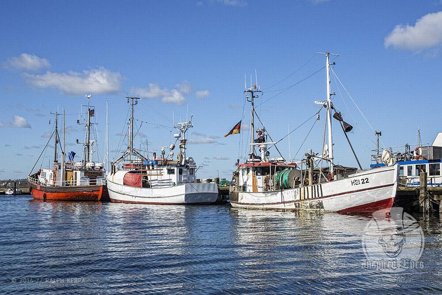 Fischerboote an ihrem Liegeplatz im Ostseehafen von Heikendorf/Möltenort // Foto: Ralph Kerpa