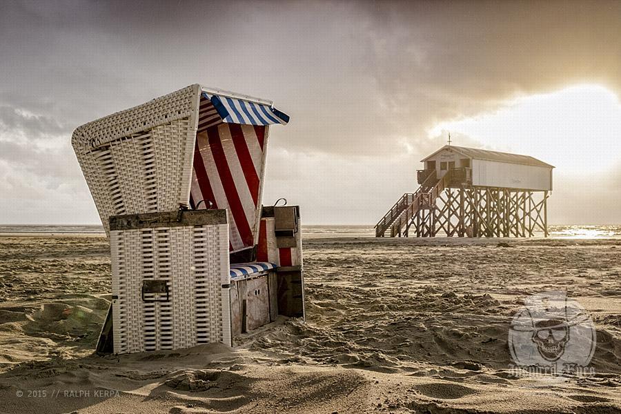 Impressionen vom Strand an der Nordsee in St. Peter-Ording // Foto: Ralph Kerpa
